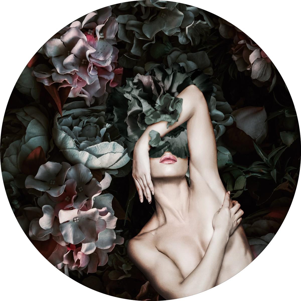 Wandbild Malerifabrikken 'Flower Lady 2' Circle Art