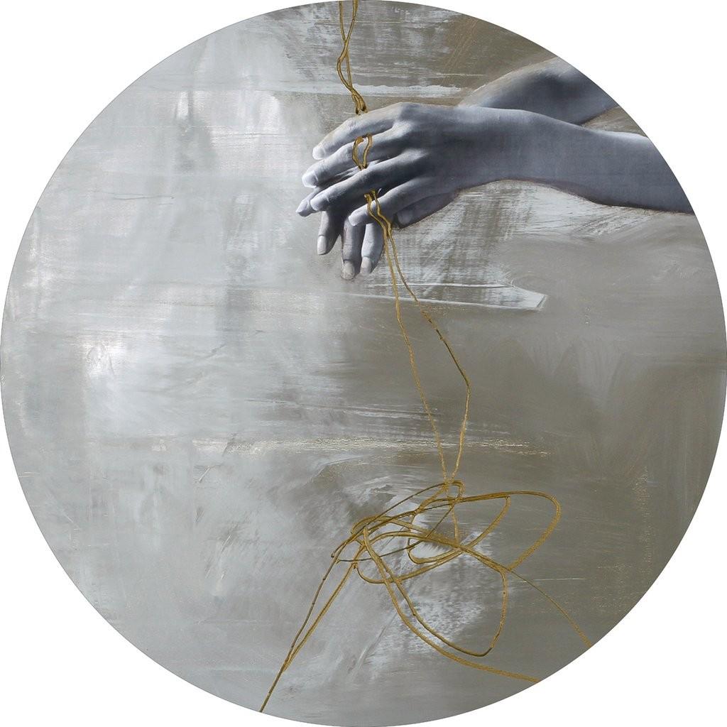 Wandbild Malerifabrikken 'Playing Line 2' Circle Art