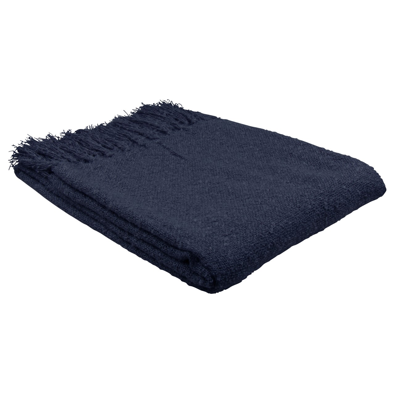 """Scotland Throw"" 130 x 150 cm - marineblau"